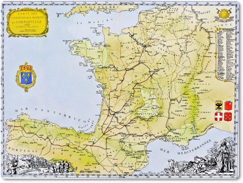 Jakobsweg Frankreich Spanien Karte.Mein Jakobsweg Durch Frankreich